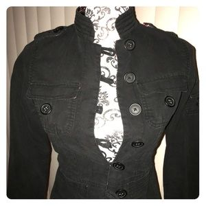 Black button up Asian inspired jacket